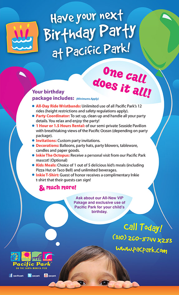 kids birthday party flyer